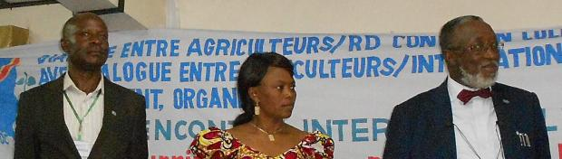 The Governor of South Kivu DR Congo came to speak and bring to a close the International Farmers' Dialogue in Bukavu 18 - 21 November.