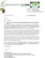 Invitation to the Uganda farmers' dialogue conference 2017