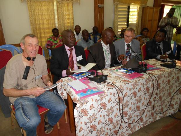 Some of the Members of the Committee during a session of the Farmers' Dialogue in DR Congo