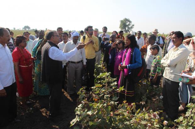 Farmers' Dialogue farm visit in India