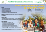 A new leaflet about Farmers' Dialogue
